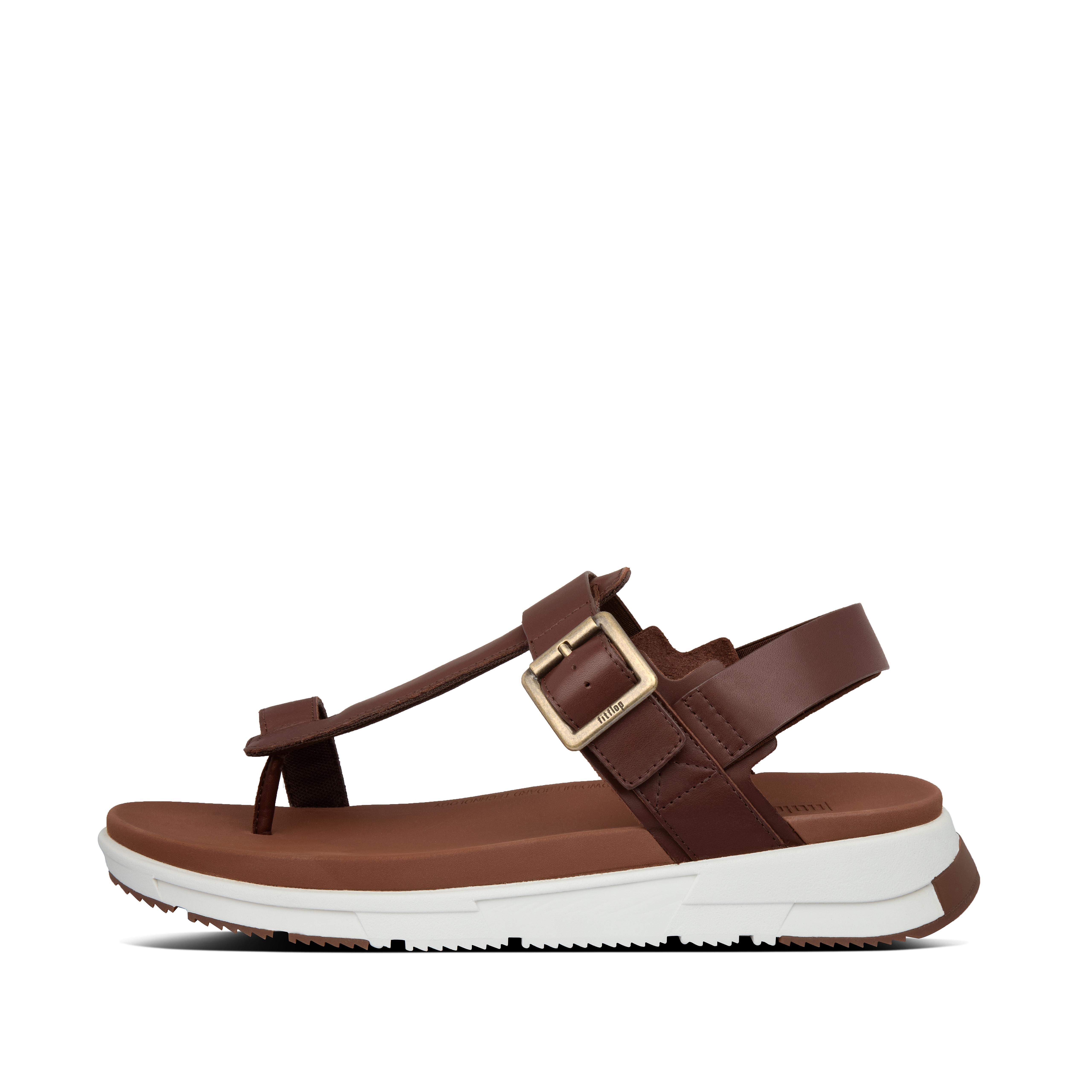 핏플랍 ARLO 샌들 Mens Arlo Leather Back-Strap-Sandals,Cognac