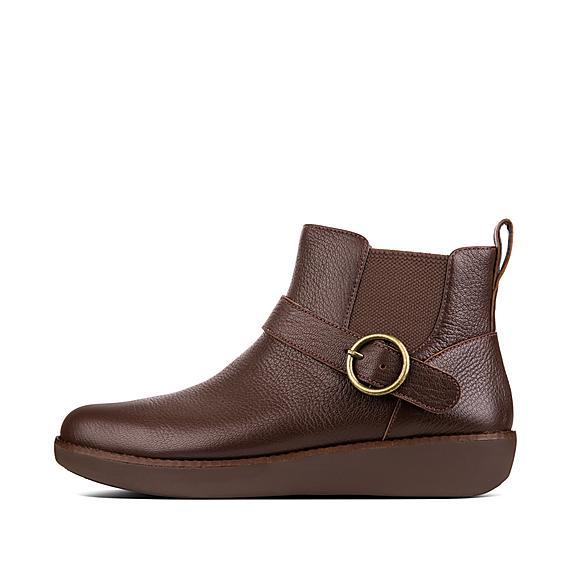 핏플랍 브리아 가죽 부츠 FitFlop Womens BRIA Leather Boots,Espresso