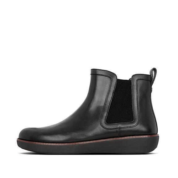 핏플랍 차이 가죽 부츠 FitFlop Womens Chai Leather Boots,All Black