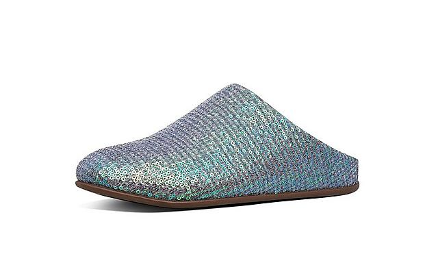 Fitflop Chrissie sequin slippers in blue tone