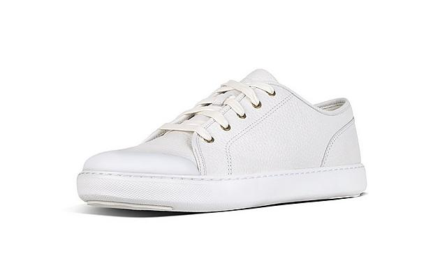 Fitflop Mens white leather sneaker