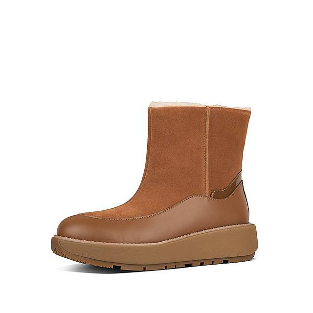 Fitflop tan coloured boot with shearling
