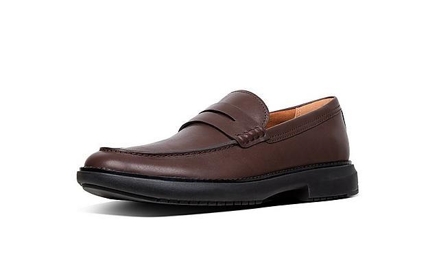 Mens classic, gentlemen's oxfords shoe with comfy soles in brown