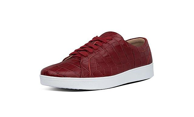 Fitflop Rally sneaker print sneaker in red