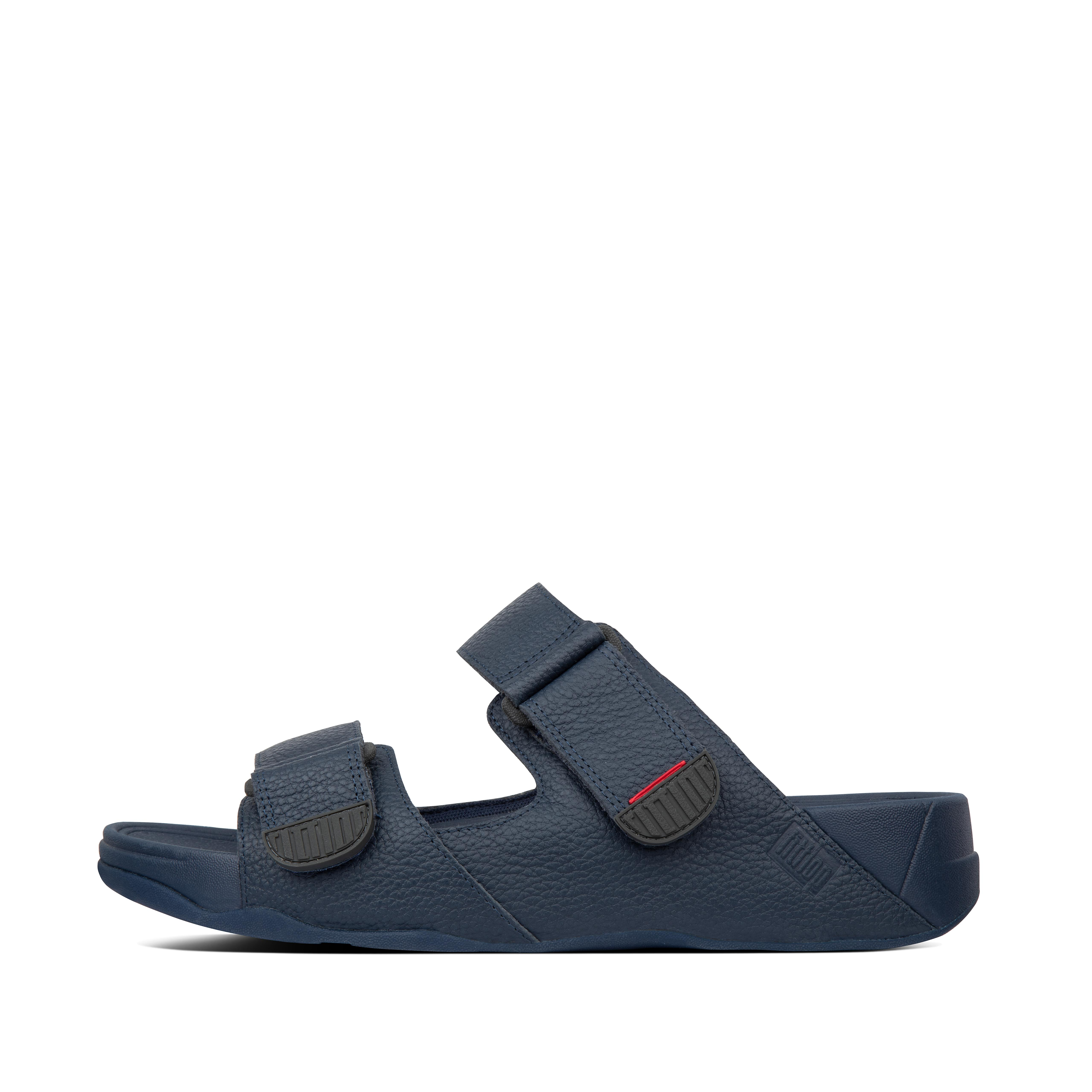 Looking for no-nonsense, casual sandals? These classic two-bar slides - here in a handsome tumbled leather - tick every (shoe) box. The ultimate in easy, with our ergonomic, instant pressure-diffusing Microwobbleboard™ midsoles and adjustable, softly padded straps.