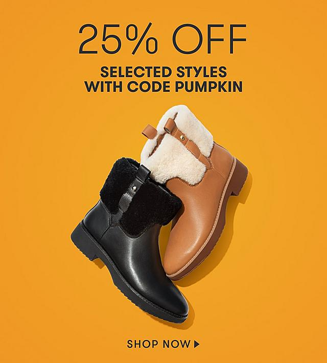 25% OFF with code PUMPKIN on selected lines