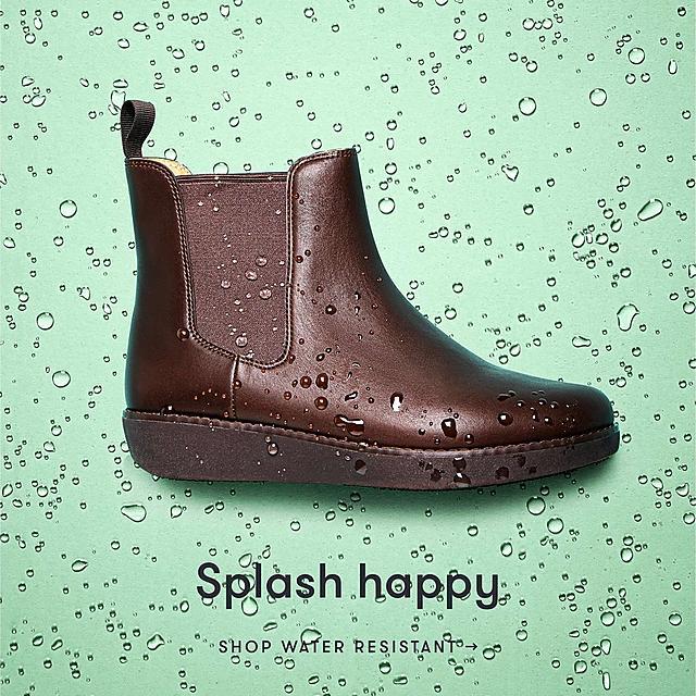 Splash happy. Shop water resistant