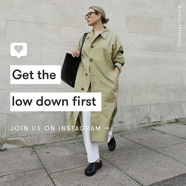 Get the low down first. Join us on Instagram
