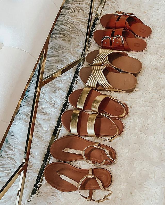 Fitflop Sandals in metallic colours