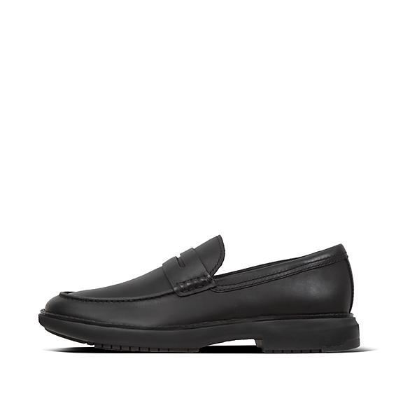 핏플랍 로퍼 FitFlop Mens IRVING Leather Loafers,Black