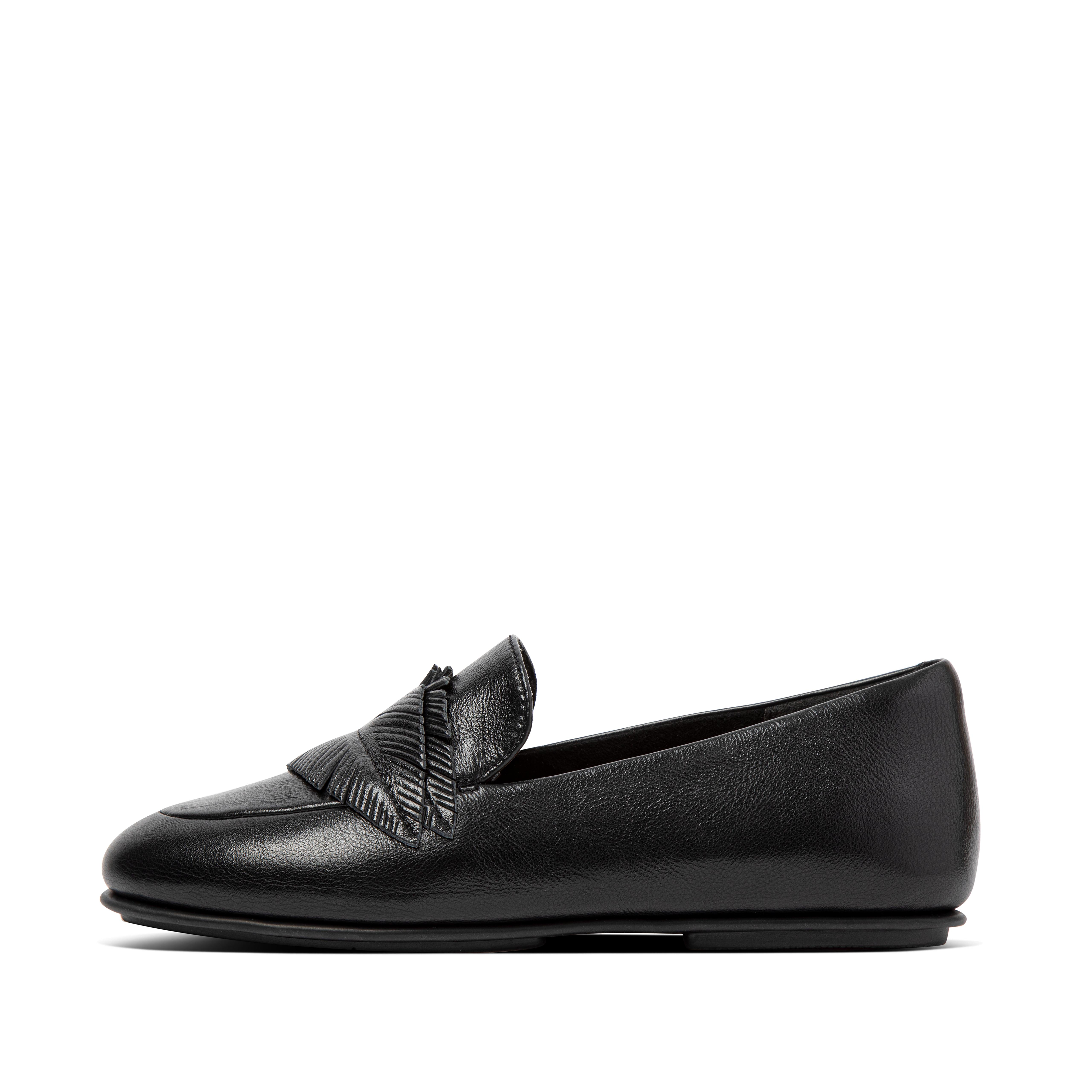 Womens Lena Leather Mules , 핏플랍 FitFlop US,All Black