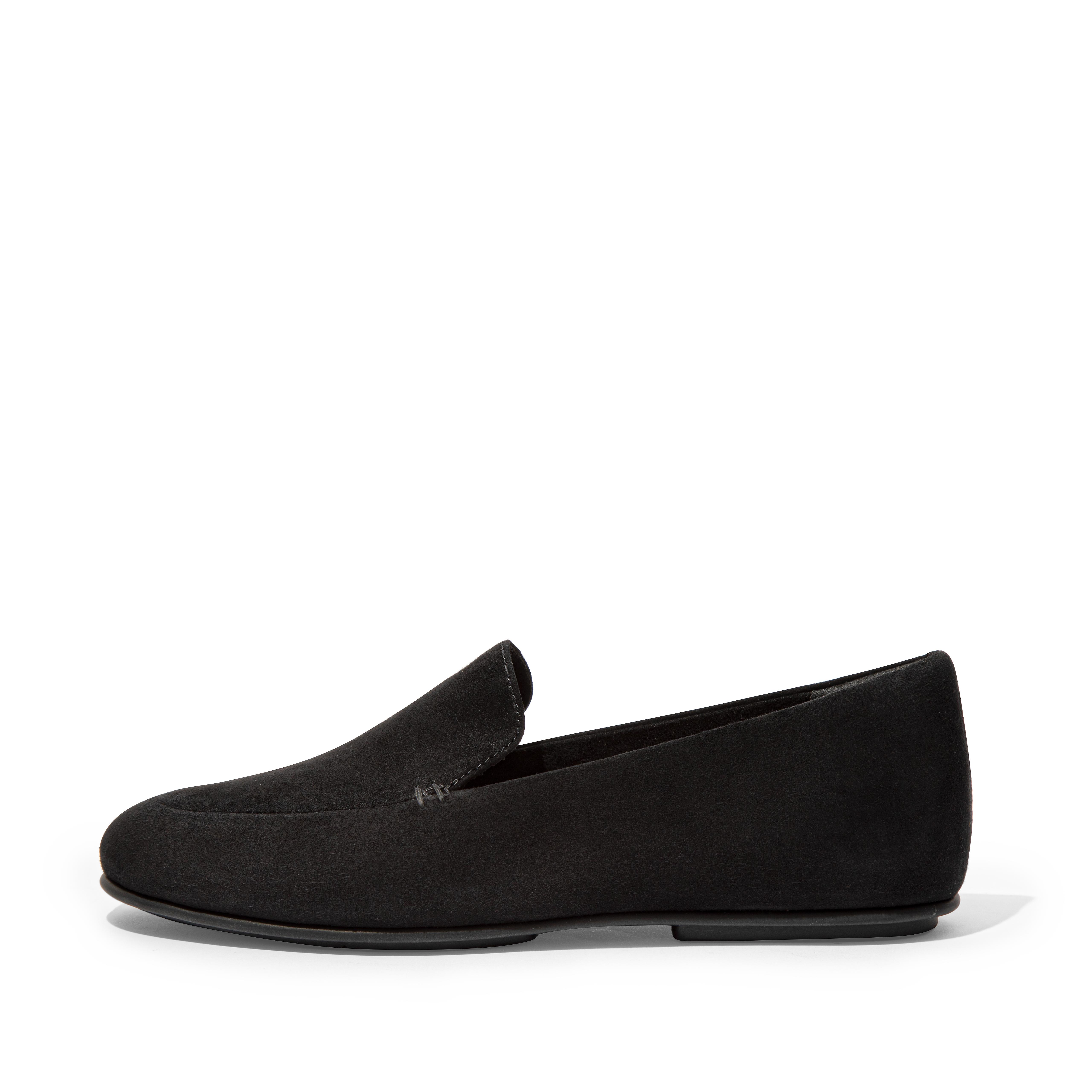 Womens Lena Suede Loafers , 핏플랍 FitFlop US,Black