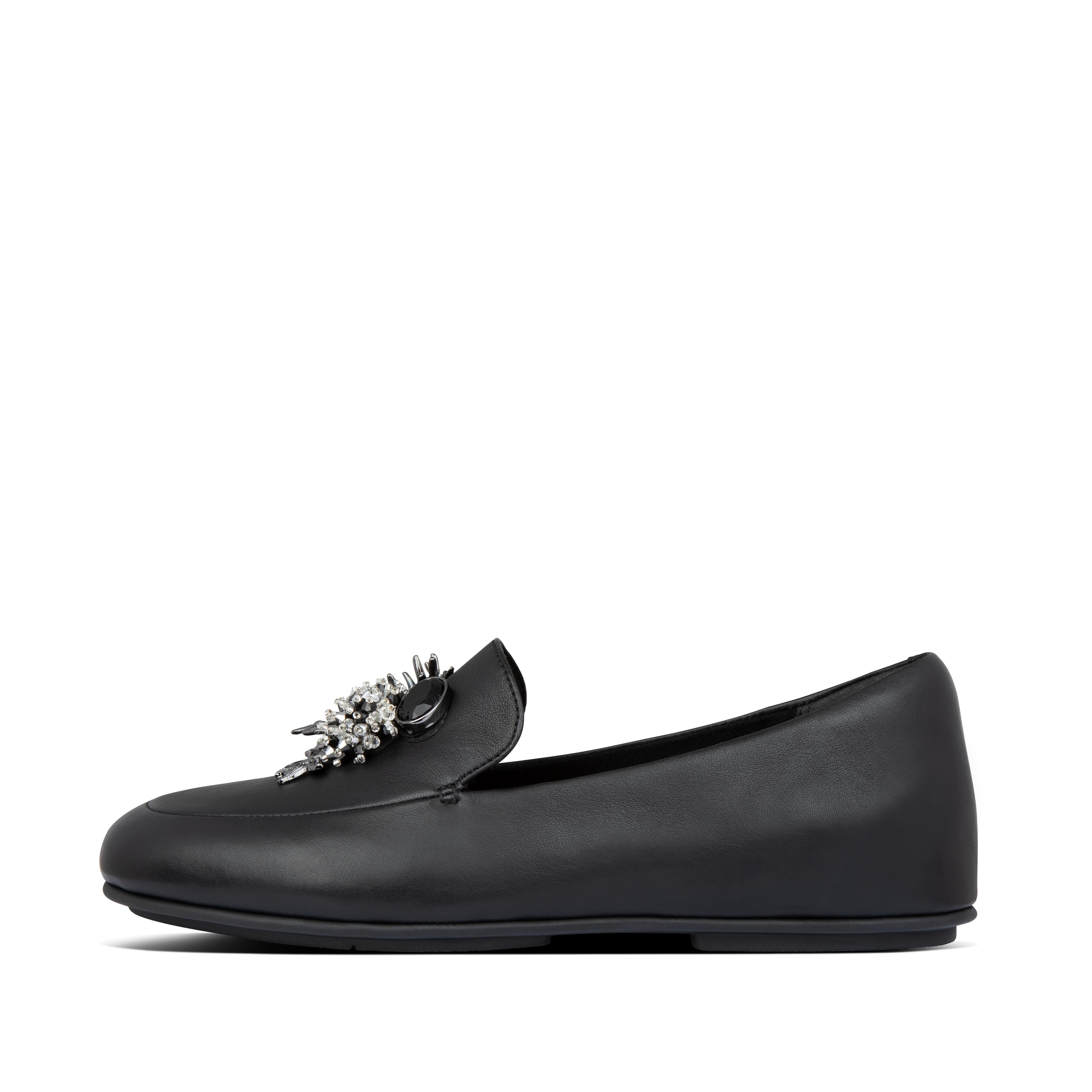 Our Lena loafers are ultimate proof that less is more. Ultra-sleek and featherlight, in soft leather, these\\\'ll add class to every outfit you wear them with. Yet they deliver major comfort thanks to their anatomically shaped footbed and our high-rebound Dynamicush™ cushioning hidden in a classic \\\'flat sole\\\'. This season adorned with a cluster of delicate, jeweled marine \\\'treasures\\\' - inspired by sea life in the depths of the Mediterranean.