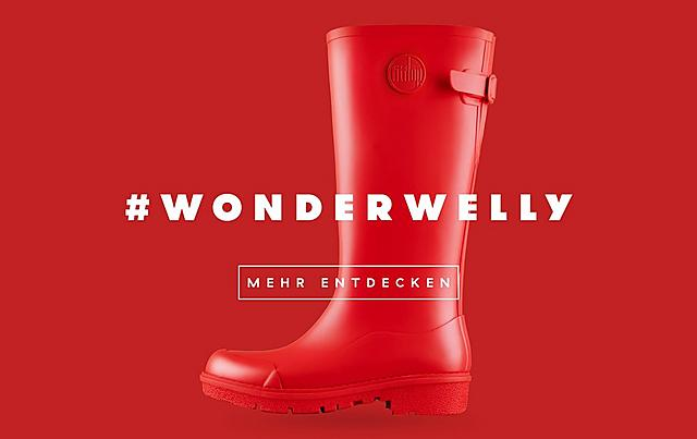 Fitflop Revolutionary WonderWelly boot, a short welly boot in black colour.