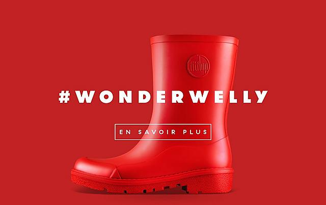Fitflop Revolutionary WonderWelly boot, a short welly boot in black