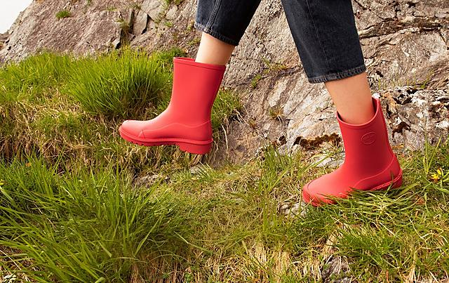 Fitflop Short Red Ladies Wellies