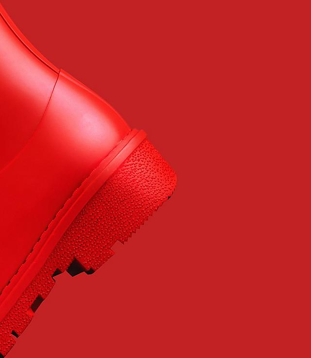 Fitflop Revolutionary WonderWelly a short wellington boot in red colour.