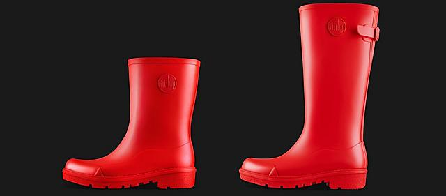 Fitflop WonderWelly, ladies red wellies in Short and Tall sizes