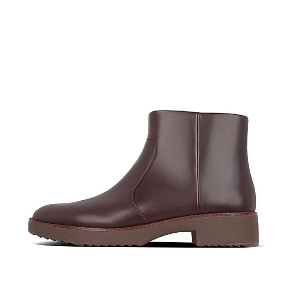 핏플랍 마리아 부츠 FitFlop Womens Maria Leather Boots,Lingonberry