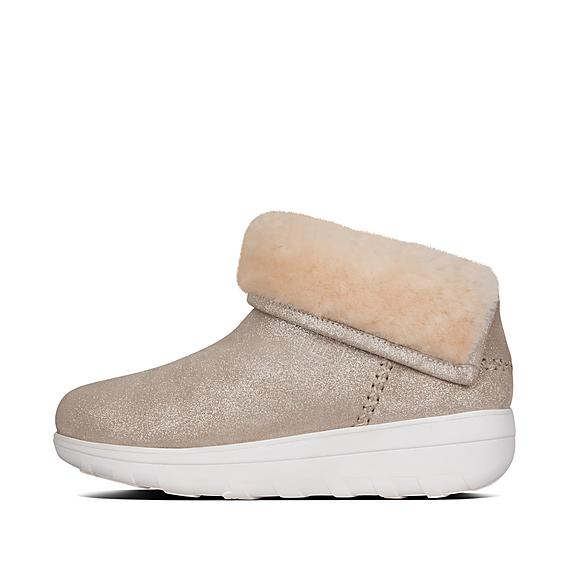 핏플랍 묵록 부츠 FitFlop Womens MUKLUK Suede Boots,Taupe