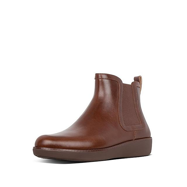 Fitflop Chair leather boots in brown