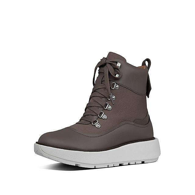 Fitflop Skandi waterproof boots in grey with white base