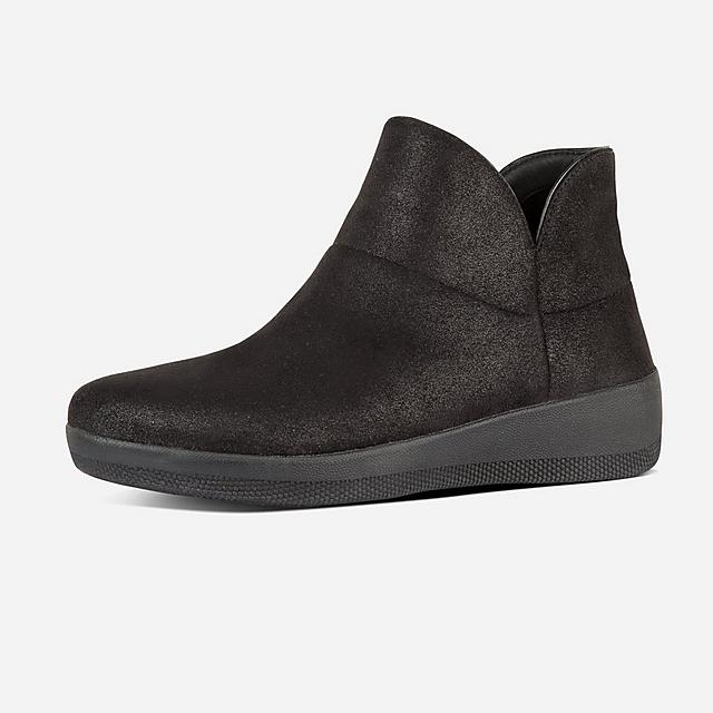 Fitflop black slip-on shimmer ankle boots