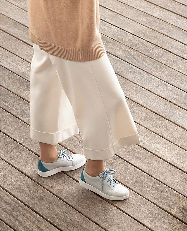 Fitflop Glace Sneakers in urban white with blue details