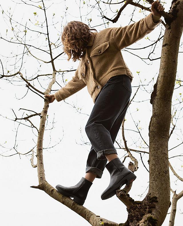 핏플랍 마리 부츠 FitFlop Womens Mari Patent-Pu Boots,All Black