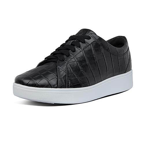Croc Leather Trainers