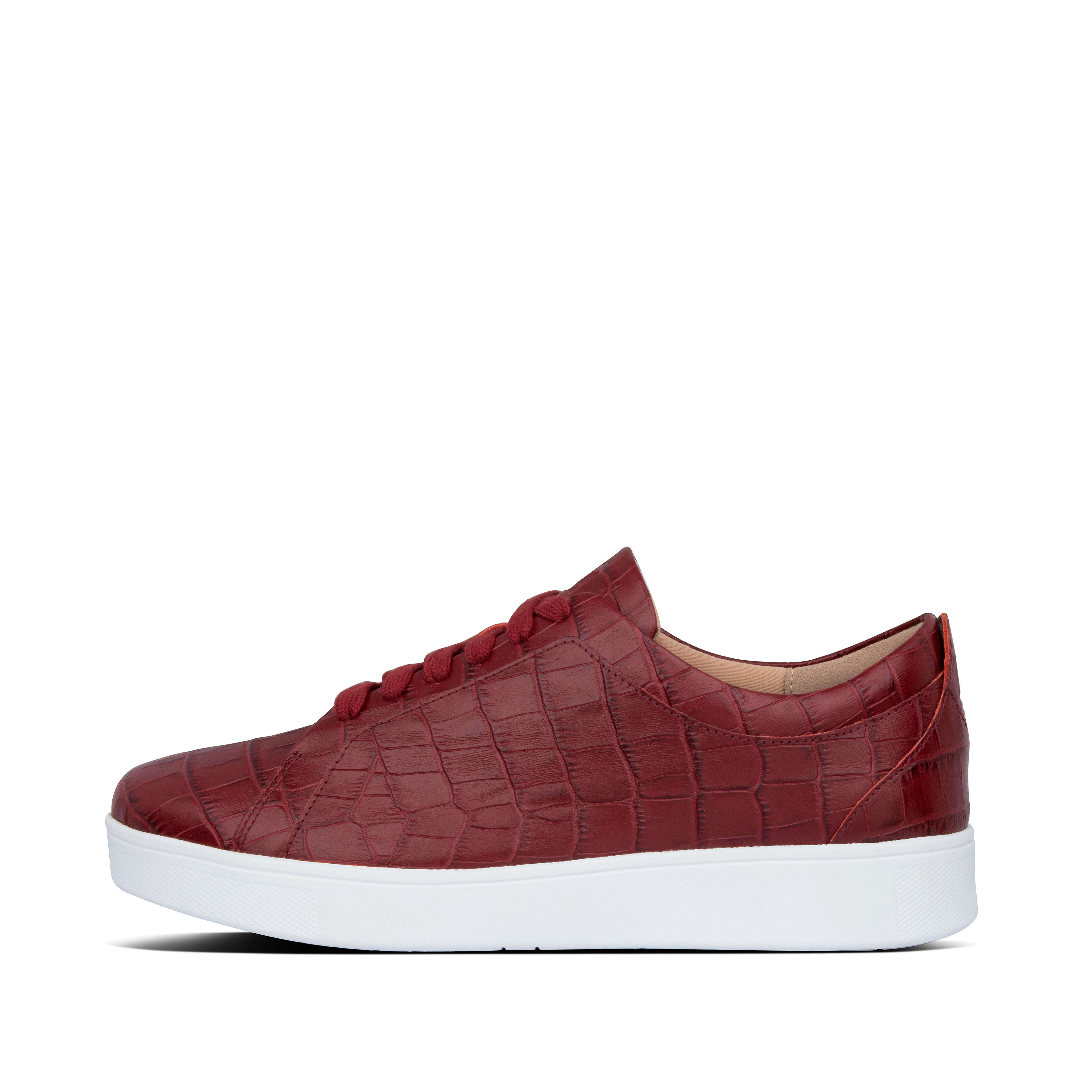 True classics. With clean styling, an old-school \\\'tennis shoe\\\' shape, and our ultra-light, flexible Anatomicush™ midsoles, these are the sneakers no woman can do without. The ones that\\\'ll work with your whole wardrobe - jeans, dresses, tailored suits - season after season. Your go-tos on busy days when comfort is non-negotiable. Life essentials. This version in croc-embossed leather, a hot runway trend, will instantly elevate your look.