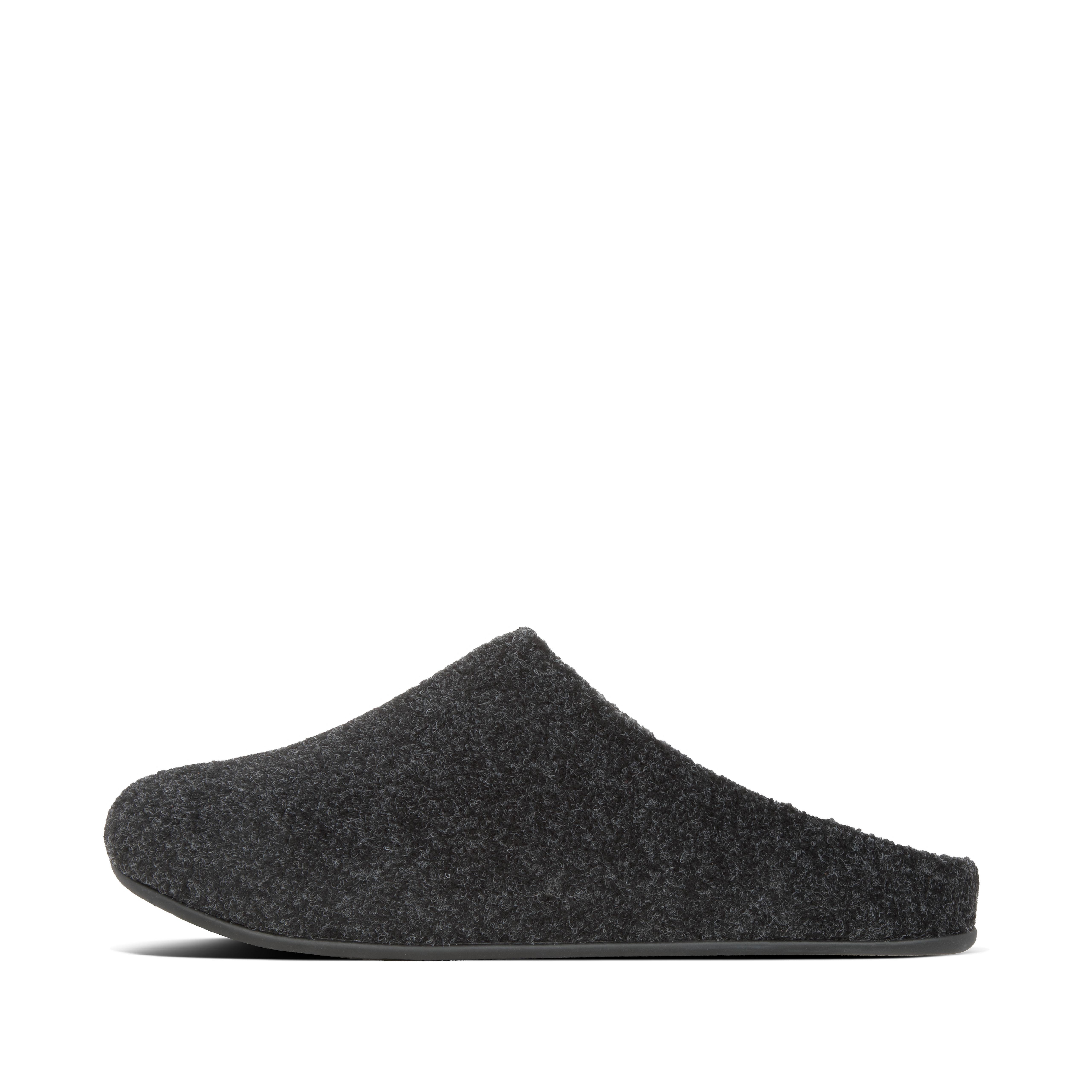 핏플랍 맨 슬리퍼 FitFlop Mens Shove Polyester Slippers,All Black