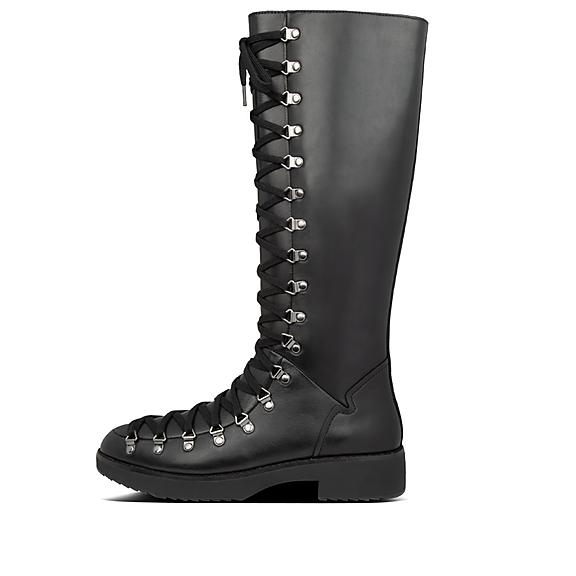 핏플랍 Skandi 부츠 FitFlop Womens Skandi Leather Boots,All Black