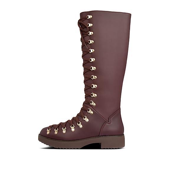 핏플랍 Skandi 부츠 FitFlop Womens Skandi Leather Boots,Lingonberry