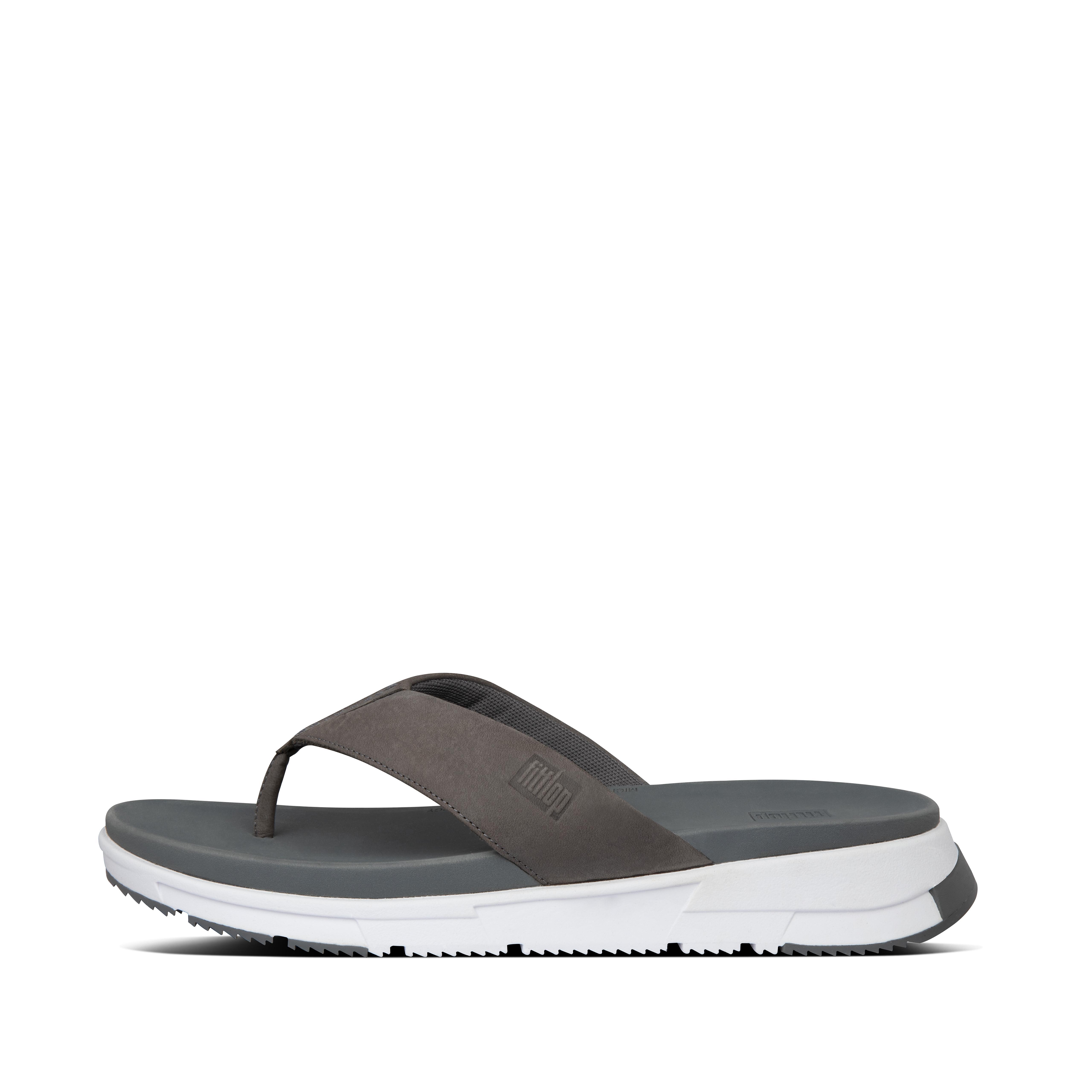 핏플랍 SPORTY 샌들 Mens Sporty Nubuck Toe-Post Sandals,Deep Grey
