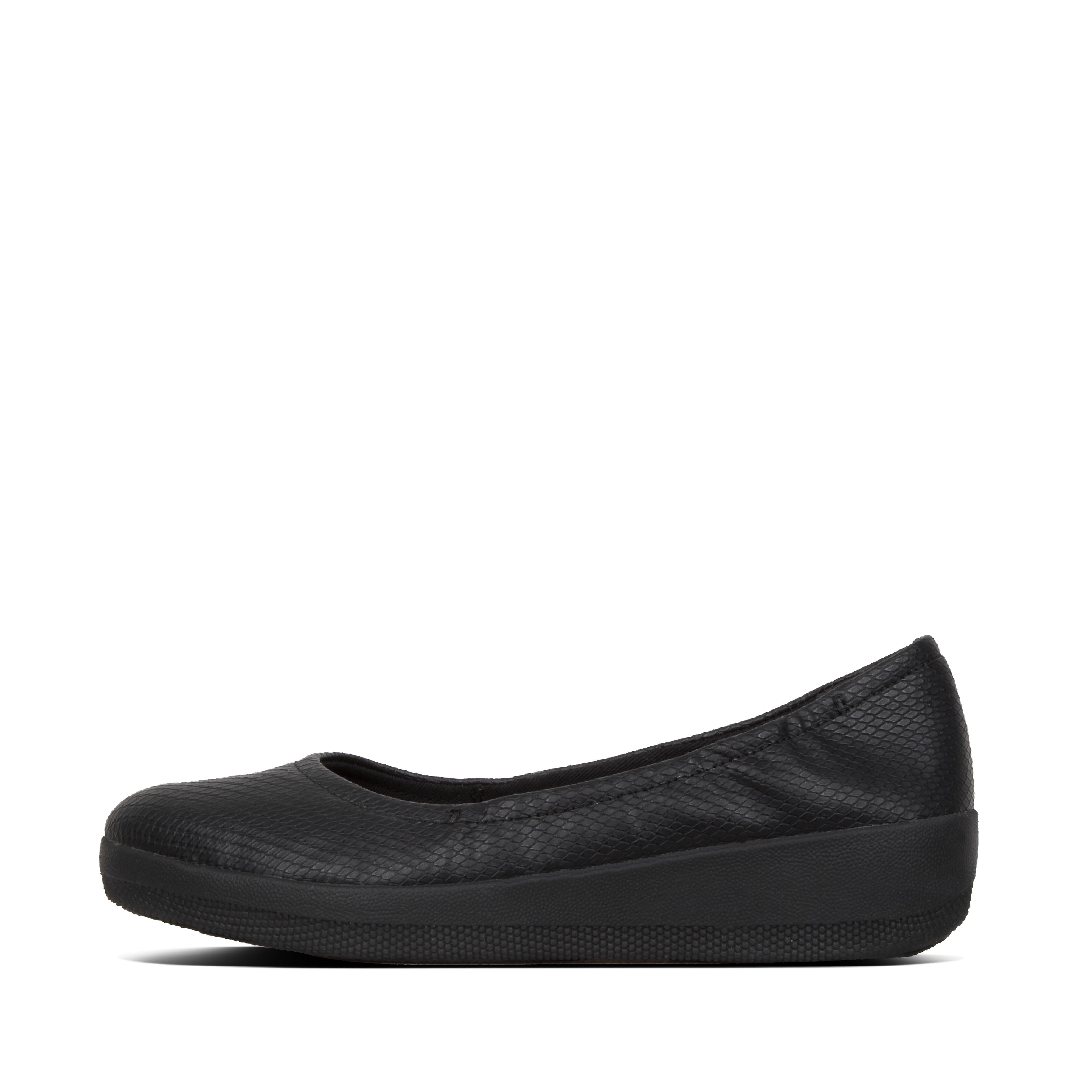 Superlight, super-chic and supercomfortable, these elegant little ballet flats feature classic snake-embossed uppers. With our slimline, ergonomic midsoles underneath, they\\\'re the perfect smart shoes for when tottering around on heels just isn\\\'t an option.