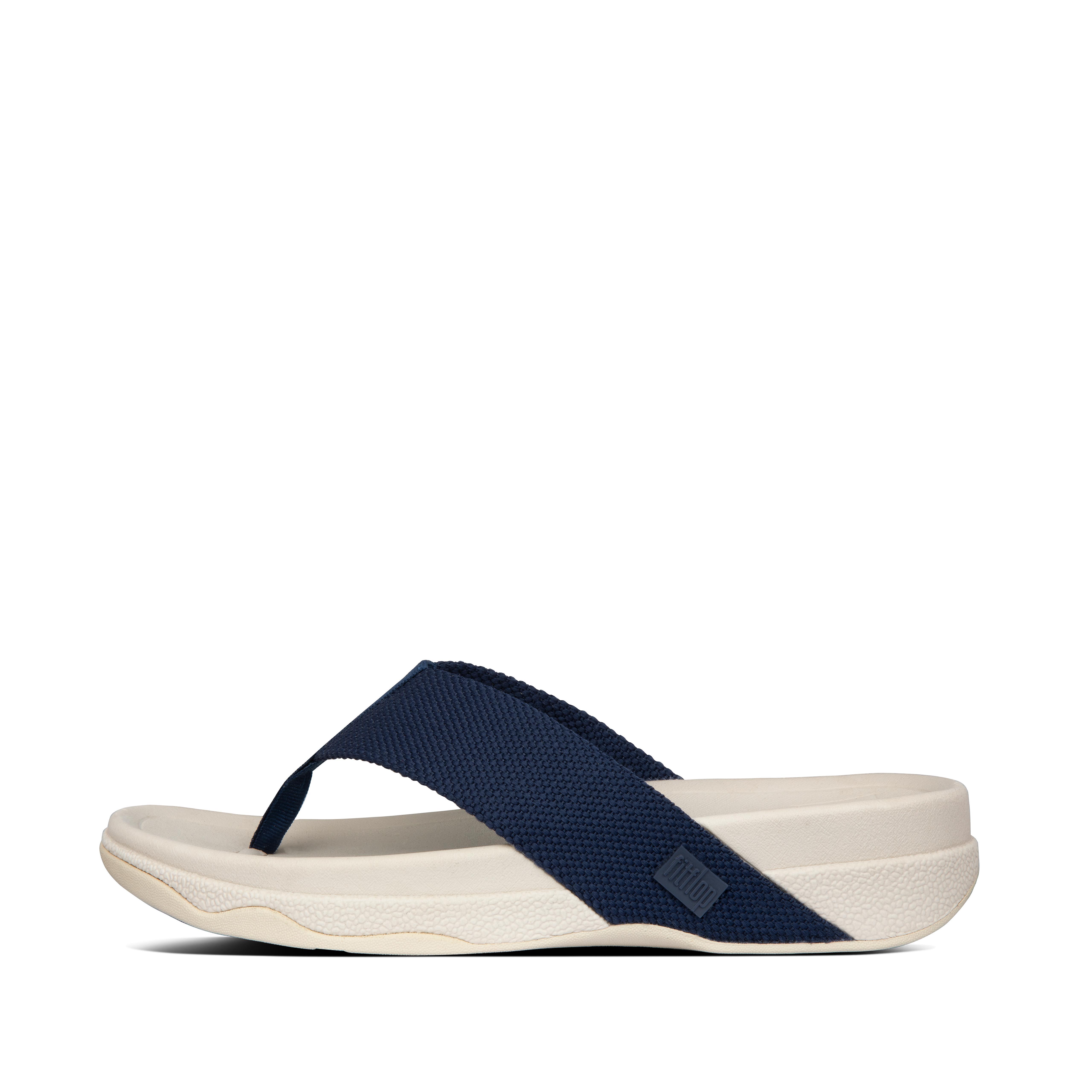 핏플랍 SURFER 샌들 Mens Surfer Polyester Toe-Post Sandals,Midnight Navy