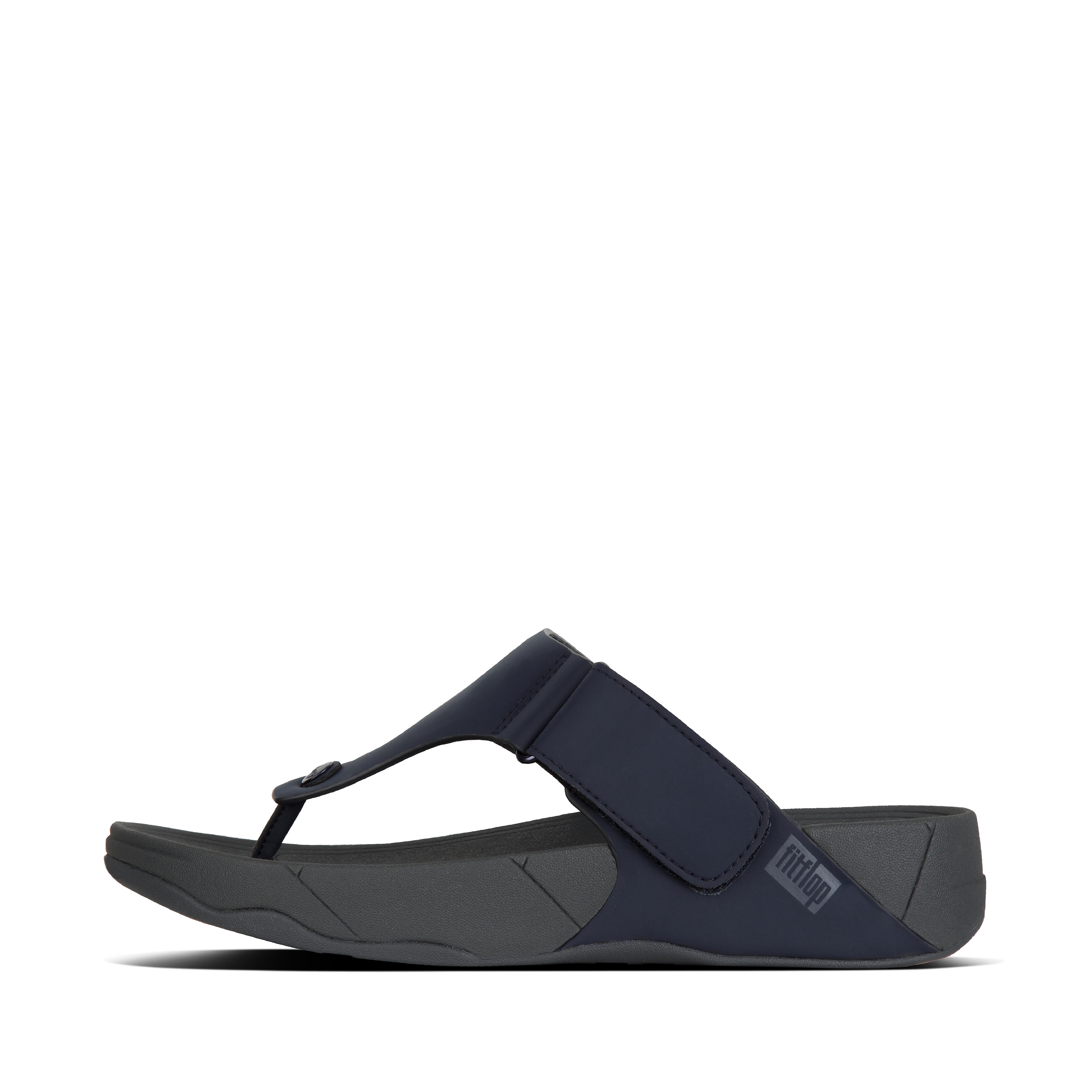 핏플랍 맨 쪼리 FitFlop Mens TRAKK-II Neoprene Toe-Post Sandals,Midnight Navy