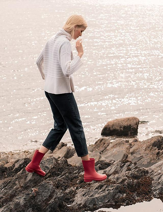 Fitflop Short Red Ladies Wellington Boots.