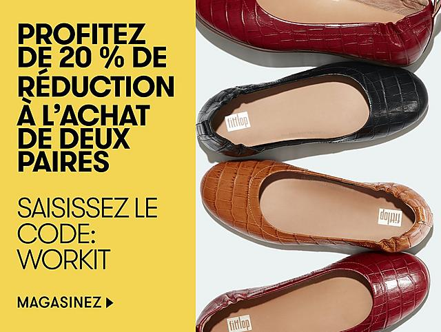 buy two pairs of shoes and get 20% off
