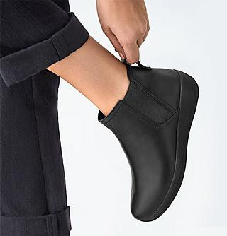 Womens black ankle boots.