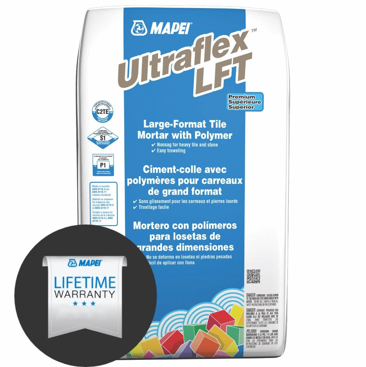 Mapei Ultraflex LFT White - Large Format Tile Mortar