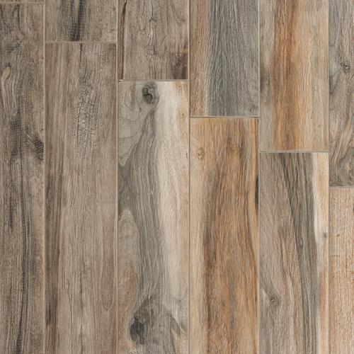 Soft Ash Wood Plank Porcelain Tile 6