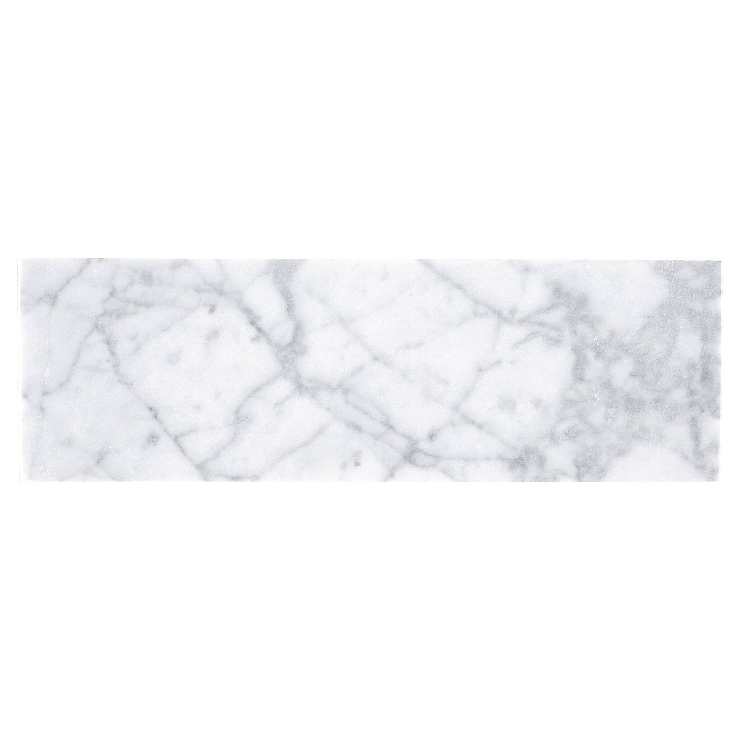 Bianco Carrara Polished Marble Tile 3 X 6 931100477 Floor And Decor