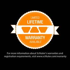 Schluter-RONDEC Inside Corner for 5/16in. PVC Polished Chrome RONDEC Profile