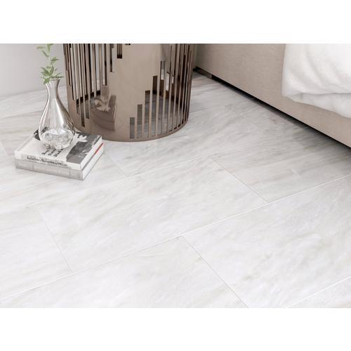 Nessus White Polished Marble Tile 12, White Marble Laminate Flooring