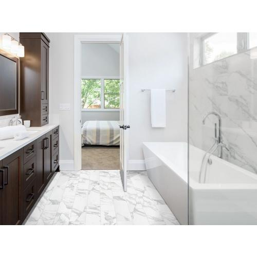 Dimarmi Bianco Stone Look Porcelain Tile 6 X 24 100434638 Floor And Decor