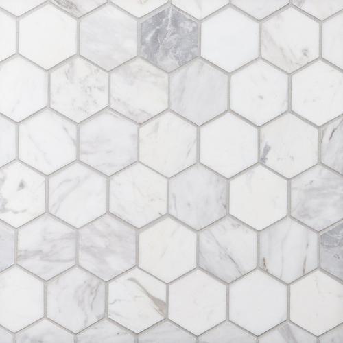 Hexagon Honed Marble Mosaic