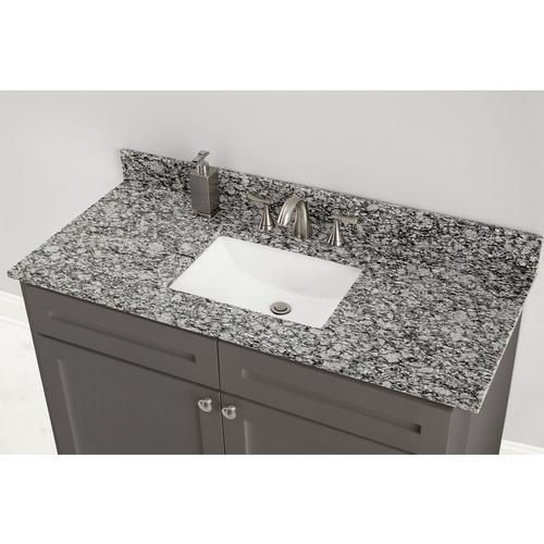 Kendall Gray Granite 49 In Vanity Top, Bathroom Granite Vanity Tops