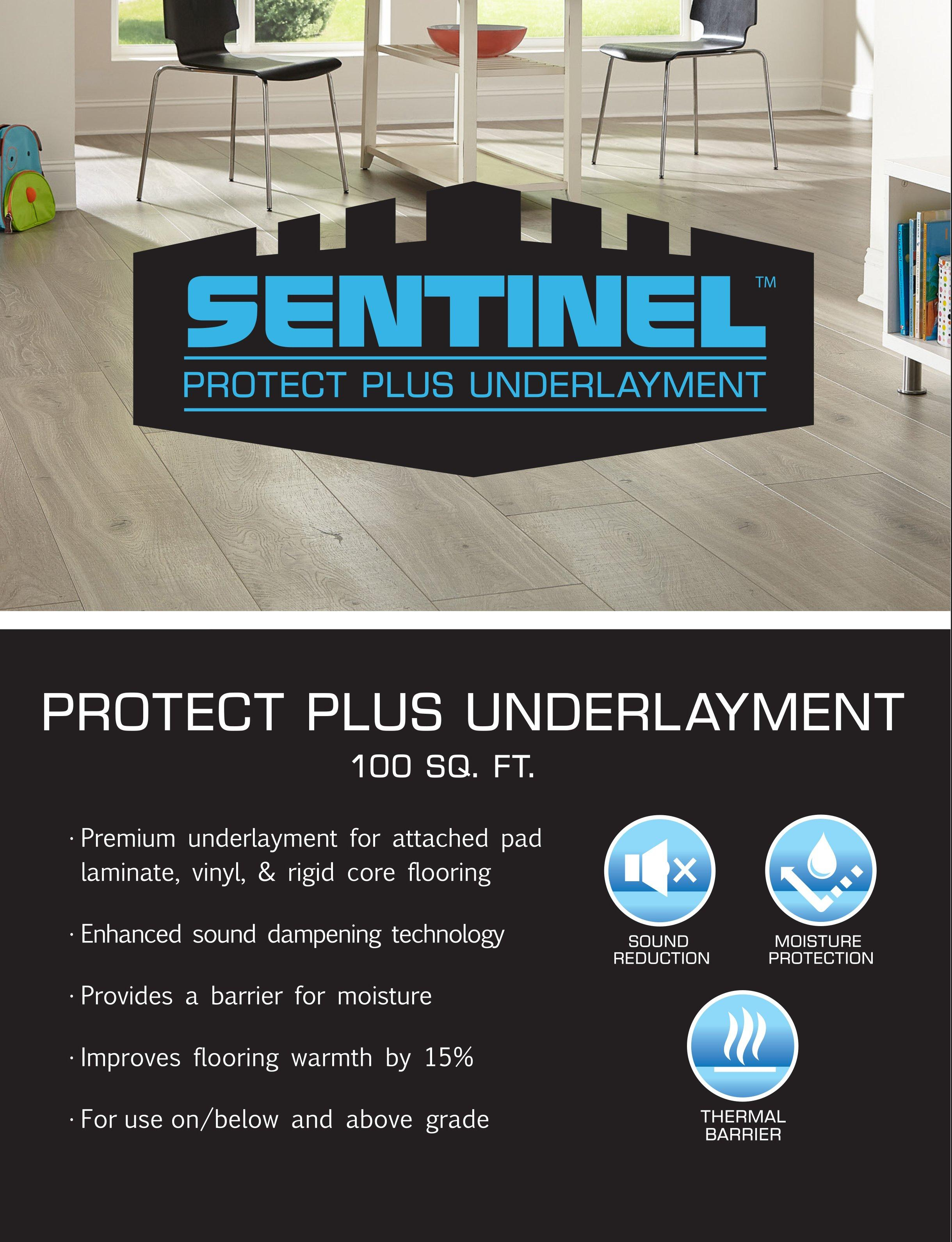 Sentinel Protect Plus Underlayment, Laminate Flooring With Moisture Barrier Attached